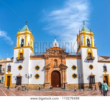 Church In Plaza Del Socorro In Ronda, Spain