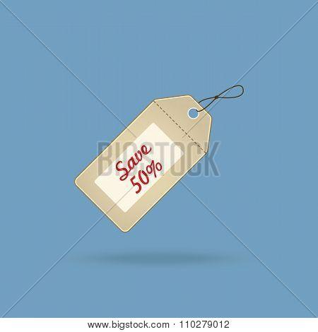 Save 50% sales tag