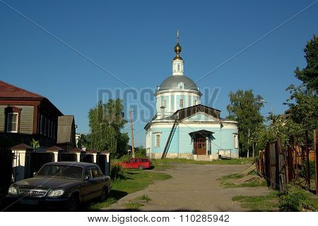 Kolomna, Russia - Jule, 2014:  Church Of The Intercession Of The Blessed Virgin Mary In Kolomna, A M
