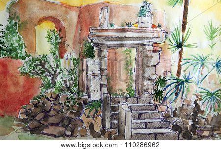 Villa Celimontana Illustration