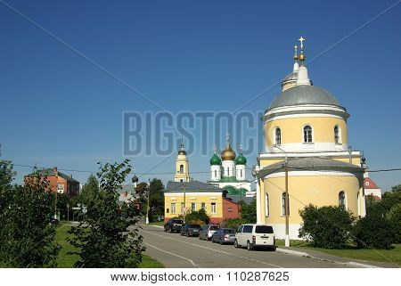 Kolomna, Russia - Jule, 2014:  The Church Of The Exaltation Of The Cross