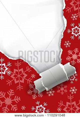 Ripping Christmas Paper Background