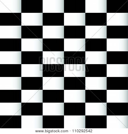 Simple Chequered Background, Pattern With Rectangular Shapes.