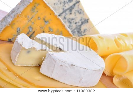 Various Types Of Cheese Composition Isolated