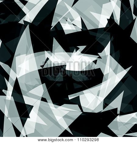 Abstract Texture With Edgy, Overlapping Shapes. Vector.