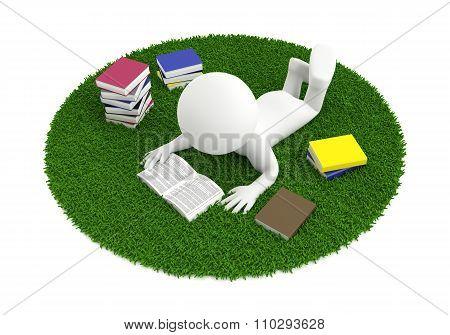 reading book carpet