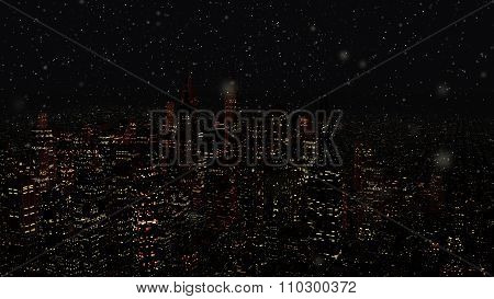 Modern City Metropolis At Night