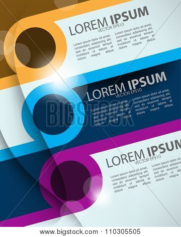 eps10 vector multicolor geometric elements slanting lines and round frame background design