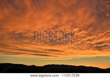 Colorful clouds at sunrise