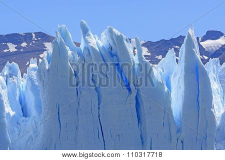 Contorted Ice On A Glacier