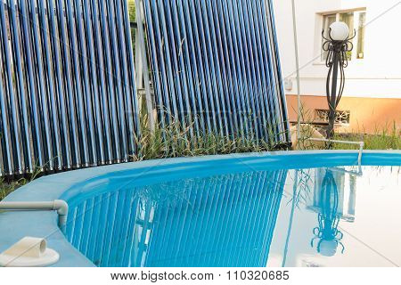 Pool and solar collectors for water heating