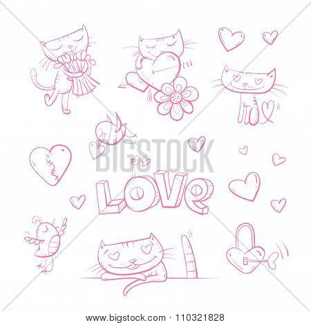 Vector Set By Valentine's Day.