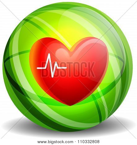 Heartbeat Icon Concept.