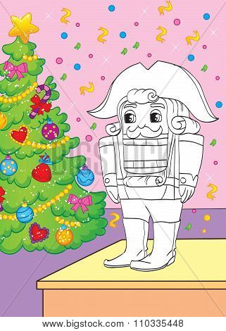Coloring Book Of Fairy Tale Nutcracker
