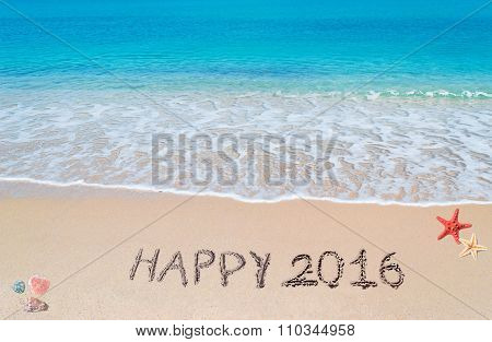Happy 2016 In The Sand