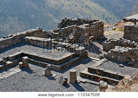 Ruins Of Ancient Buildings In The National Park Gamla