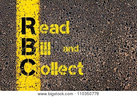 Accounting Business Acronym Rbc Read, Bill, And Collect