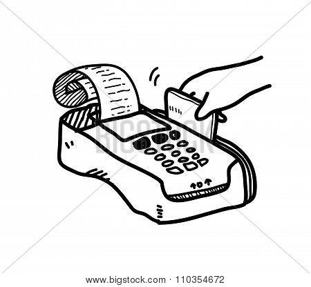 Credit Card Payment Doodle