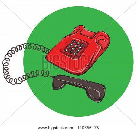 Vintage Telephone No.4, Handset Off