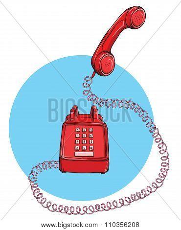 Vintage Telephone No.9, Handset Up