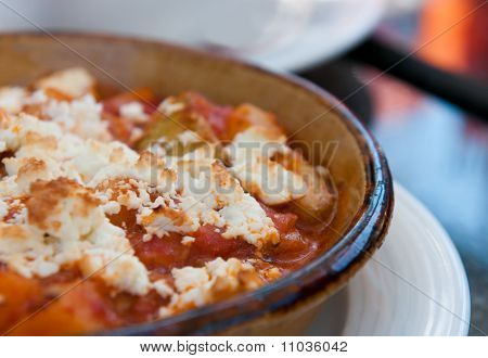Greek Food With Cheese And Tomato