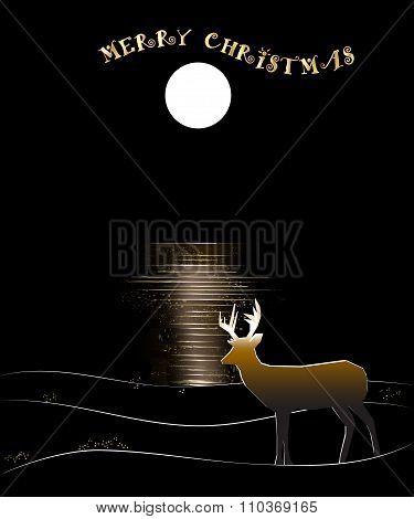 Deer by Moon Reflected Water