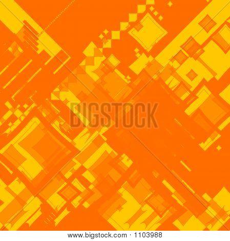 Ebb Flow Orange Square Random