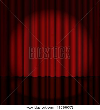 Stage Curtain with Light Spot