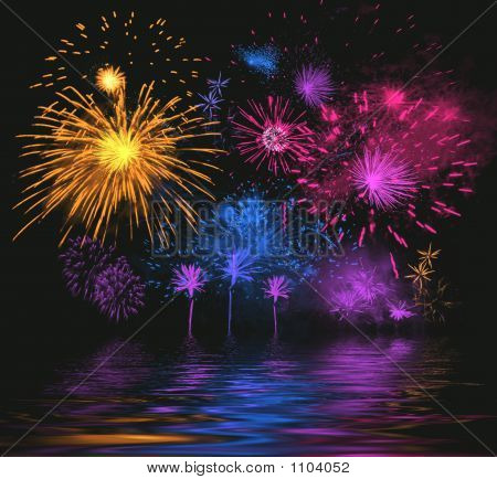 Celebratory Firework. Illustration