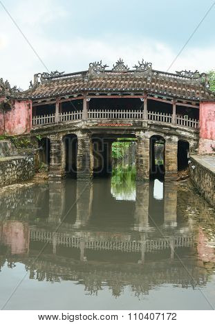 View Of The Ancient Japanese Bridge In Hoi An
