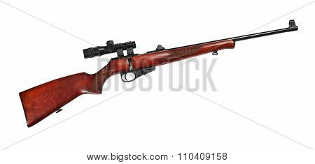 Hunting Repeating Rifle With A Telescopic Sight Caliber .22 Lr