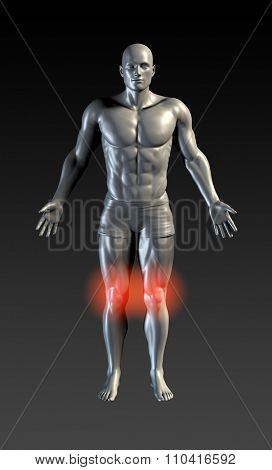 Knee Injury with Red Glow on Area Series poster