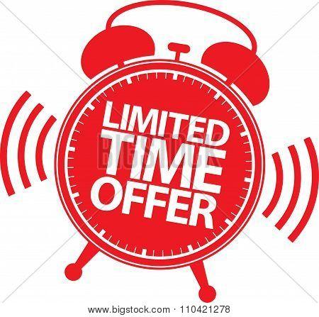 Limited Time Offer Red Label, Vector Illustration