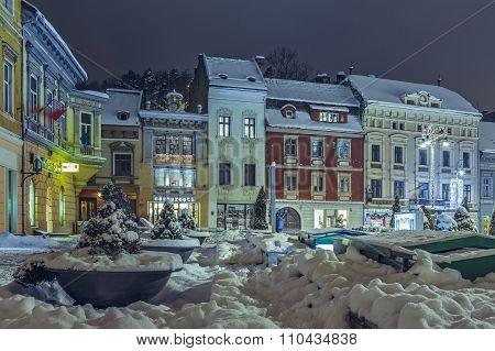Winter Nightfall City View