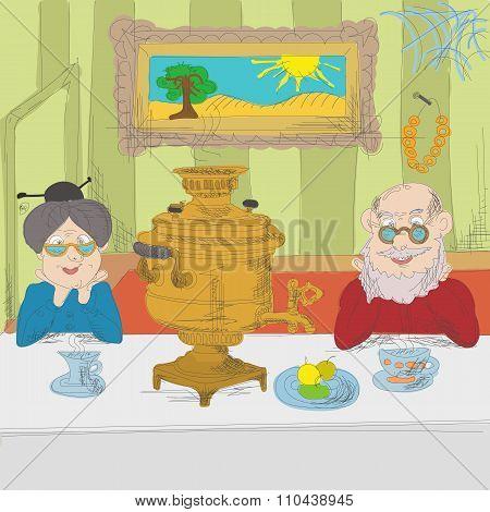 Russian tea party