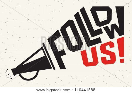 Follow us banner for social networks