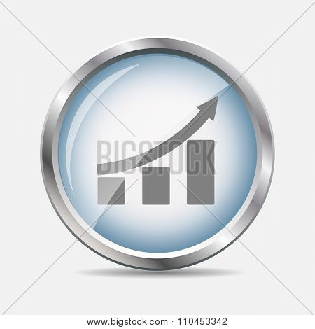 Diagramm Glossy Icon Vector Illustration