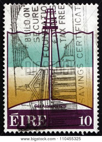 Postage Stamp Ireland 1978 Offshore Oil Well