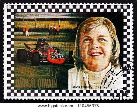 Postage Stamp Umm Al-quwain 1972 Bengt Ronald Ronnie Peterson