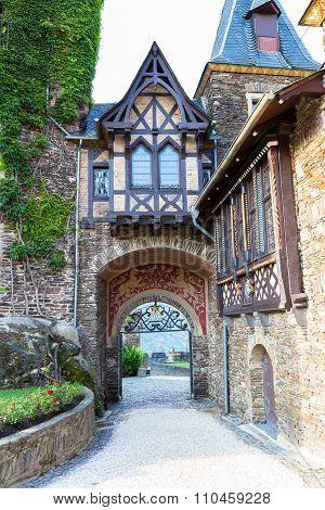 Gate To Castle Reichsburg. Cochem. Germany.