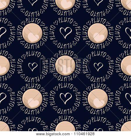 Pluto Heart Set Modern Pattern 2