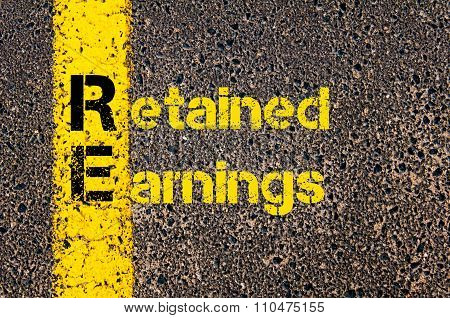 Accounting Business Acronym Re Retained Earnings