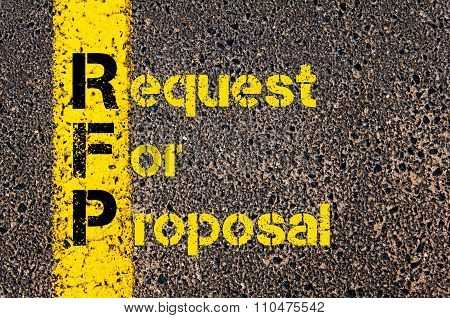 Accounting Business Acronym Rfp Request For Proposal