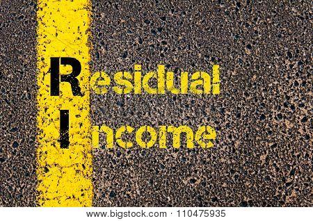 Accounting Business Acronym Ri Residual Income