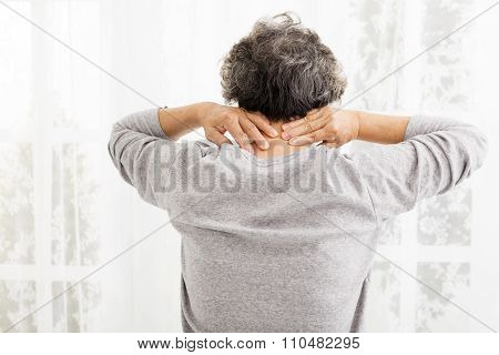 Senior Woman With Neck Pain