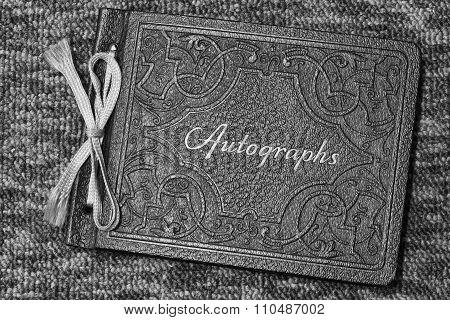 Antique And Vintage Autograph Book