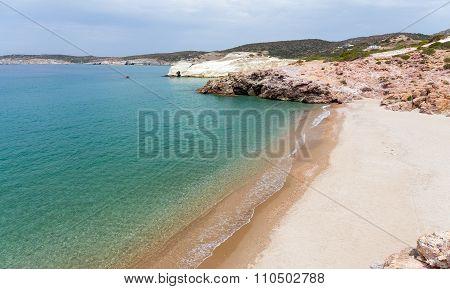 Triades beach, Milos island, Cyclades, Greece