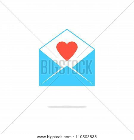 open blue letter with red heart
