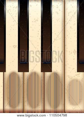Old Worn Piano Keys