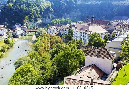 Fribourg, Landscape Of Green Areas